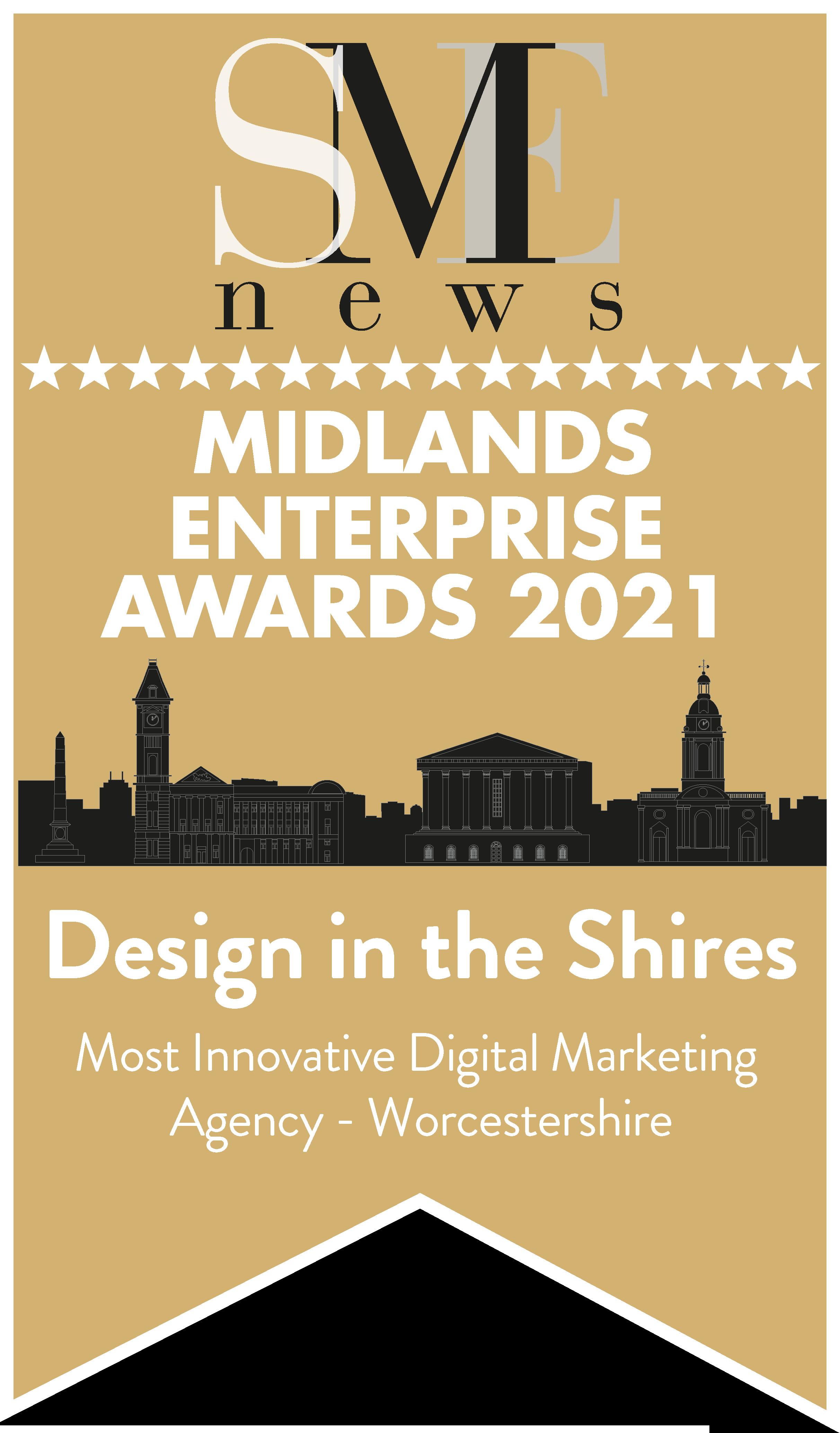 SME News Award Logo | Design in the Shires - Malvern, Worcestershire