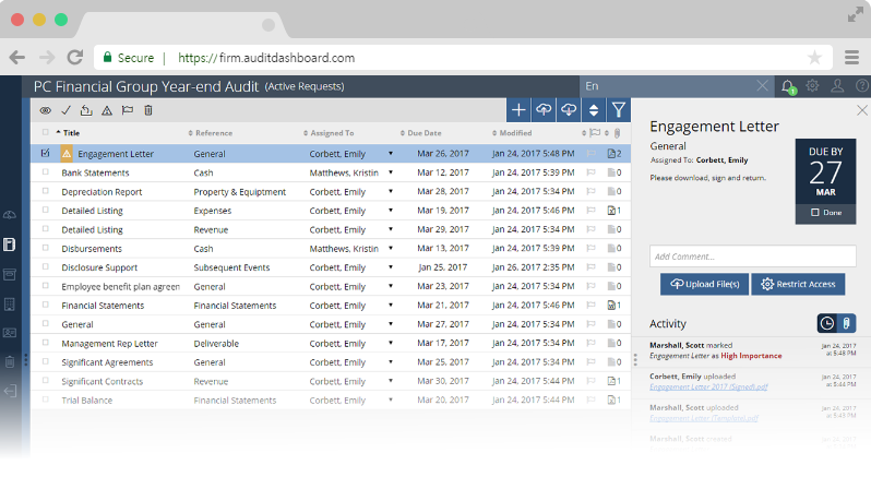 Screenshot of AuditDashboard