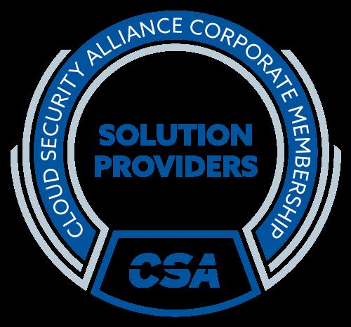 Cloud Security Alliance Corporate Membership Solution Provider Badge Logo