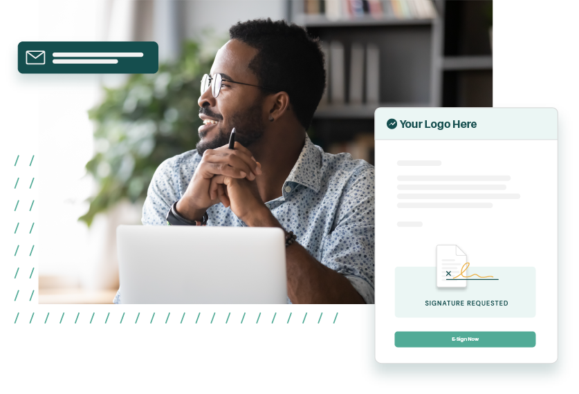 A black professional accountant saving time by receiving electronic signatures