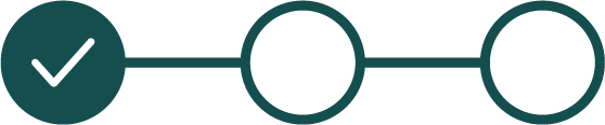 An icon to signify the status of an electronic signature, 1 out of 3 boxes have been checked