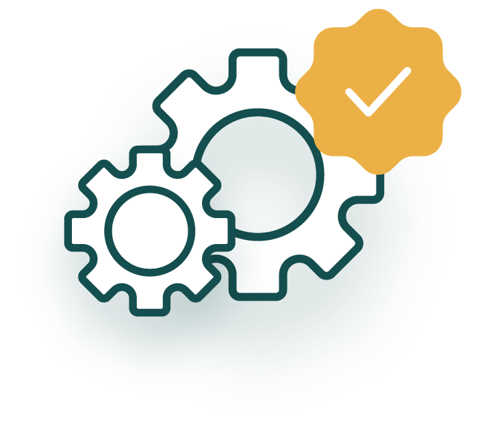 A software development lifecycle program icon