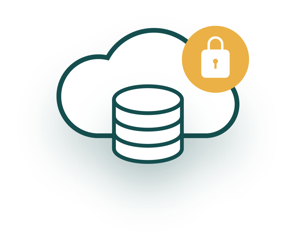 A cloud infrastructure icon