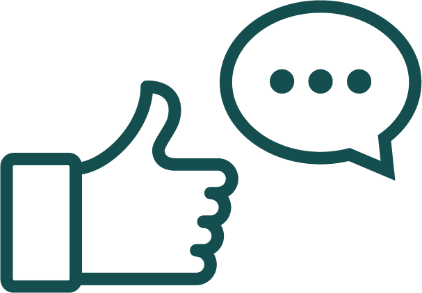 An icon for real-time feedback