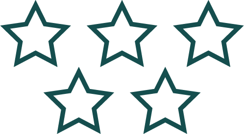 An icon of 5 Star Reviews