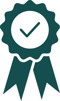 An icon of an ribon to celebrate 100% client retention