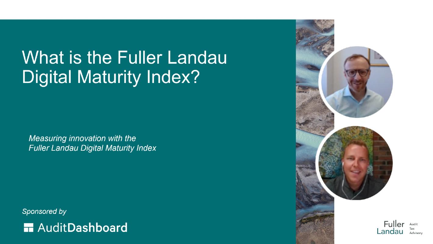 Video cover: What is the Fuller Landau Digital Maturity Index?