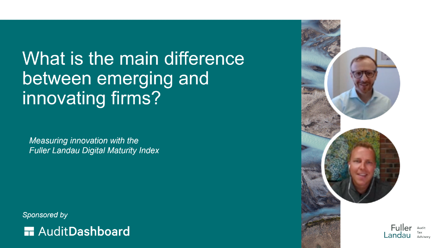 Video cover: What is the main difference between innovating and emerging firms?