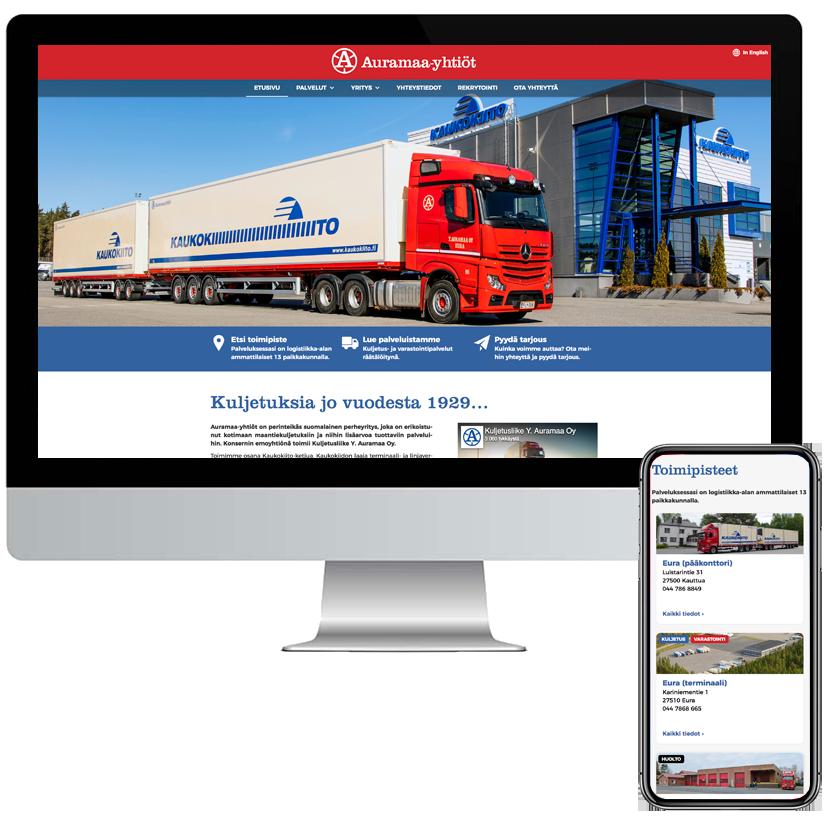 Suunnittelemme verkkosivut aina asiakkaidemme asiakkaiden tarpeisiin