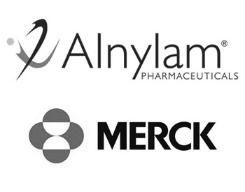 Alnylam Logo and Merck Logo