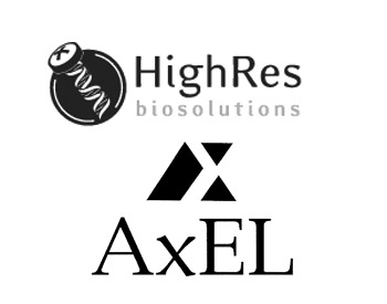 HighRes Biosolutions Logo and Axel Johnson Logo