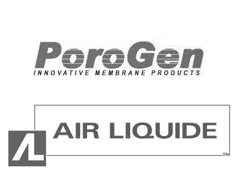 PoroGen Corporation Logo and Air Liquide SA Logo