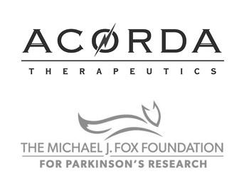 Accorda Therapeutics Logo and Michael J. Fox Foundation Logo