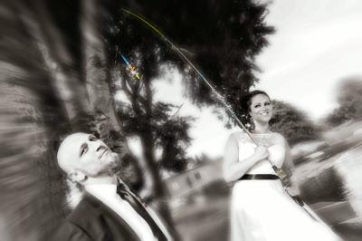 Kreatives Hochzeitsfoto auf Rügen - Hochzeitsfotografie