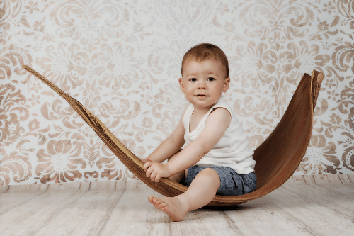 Baby kreativ fotografiert