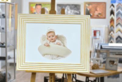 Gerahmtes Babayfoto im FOTO-Atelier Wiesenberg