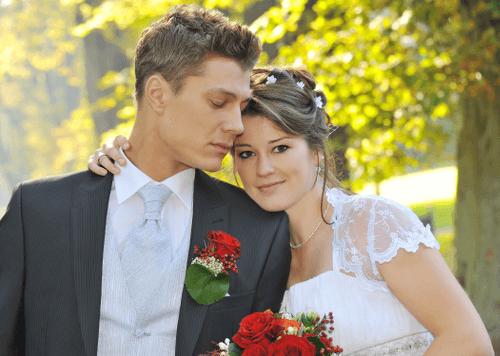 Hochzeitspaar im Park Putbus - Hochzeitsfotografie