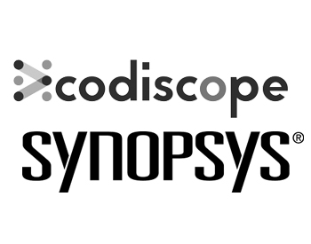 Codiscope Logo and Synopsys Logo