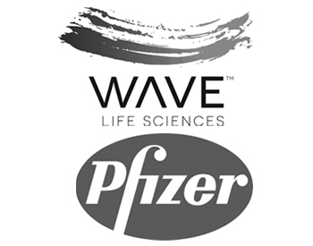 WAVE Life Sciences Ltd. Logo and Pfizer Inc. Logo