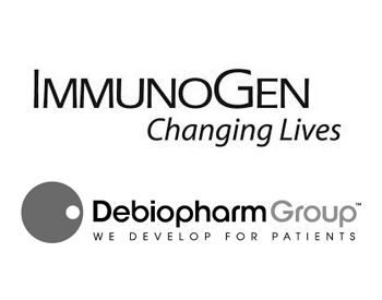 ImmunoGen Logo and Debiopharm International Logo