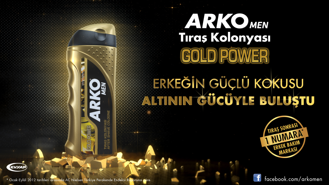 Arko Men Gold Power Campaign Design