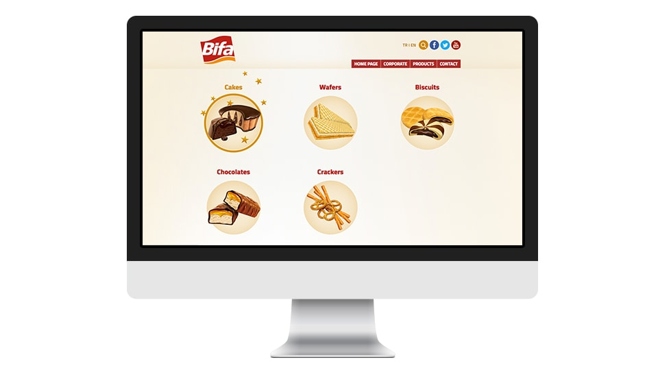 Bifa Çikolata Anasayfa Tasarım
