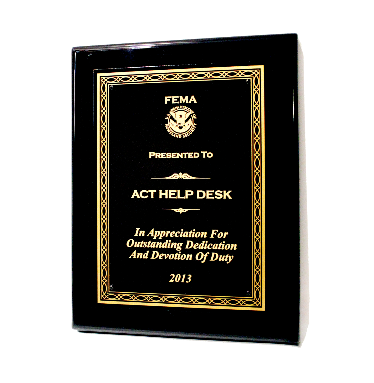 ACT - 2013 FEMA Help Desk Award Winner