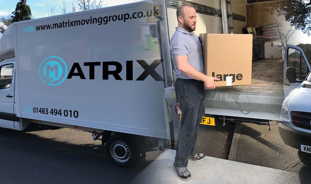 Matrix Removals Image of van in Surrey