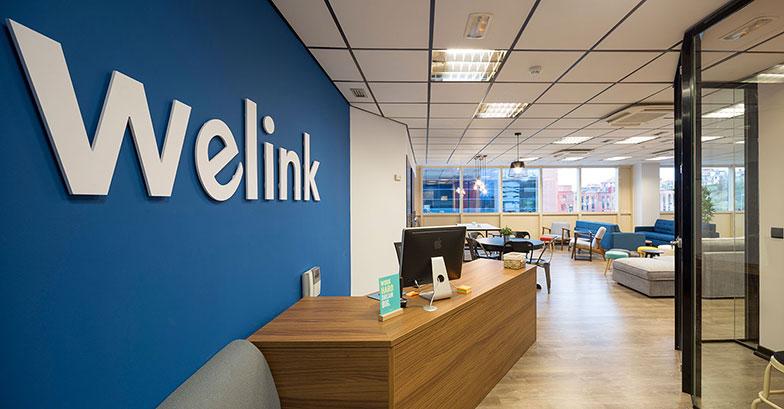 Entrada y recepción Welink Coworking