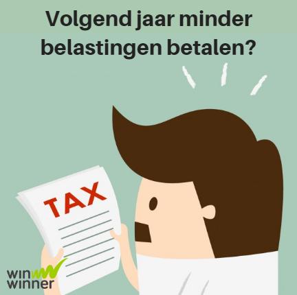 Volgend jaar minder belastingen betalen?
