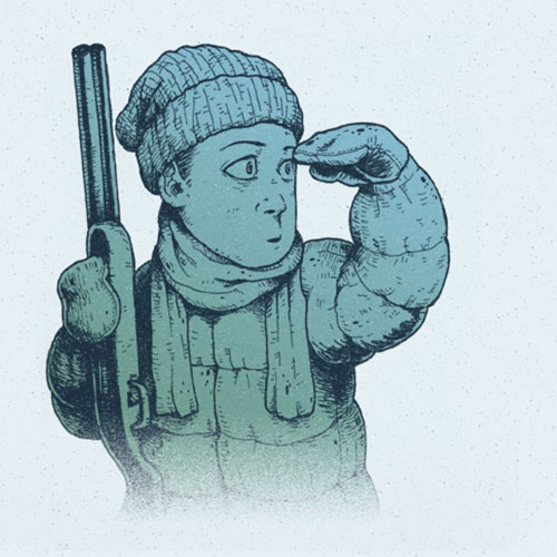 'Winter Hunt - Scout' art print by Christian Gilbang