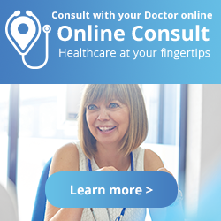 ONline consult banner ad