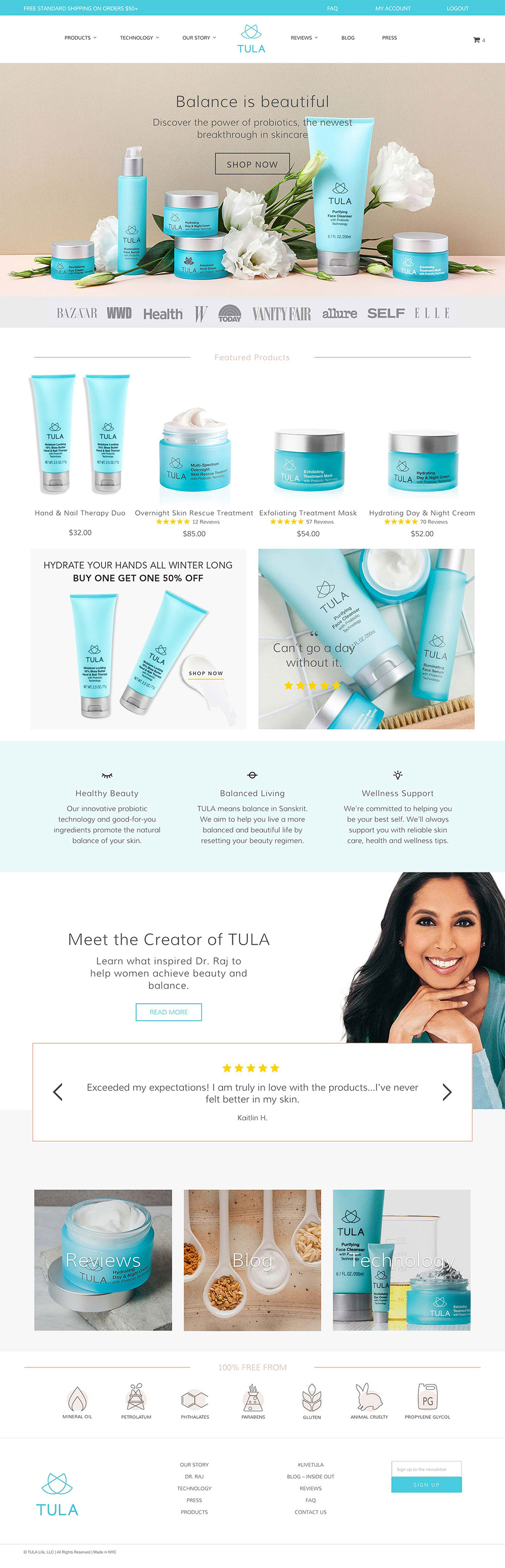 Tula homepage screengrab