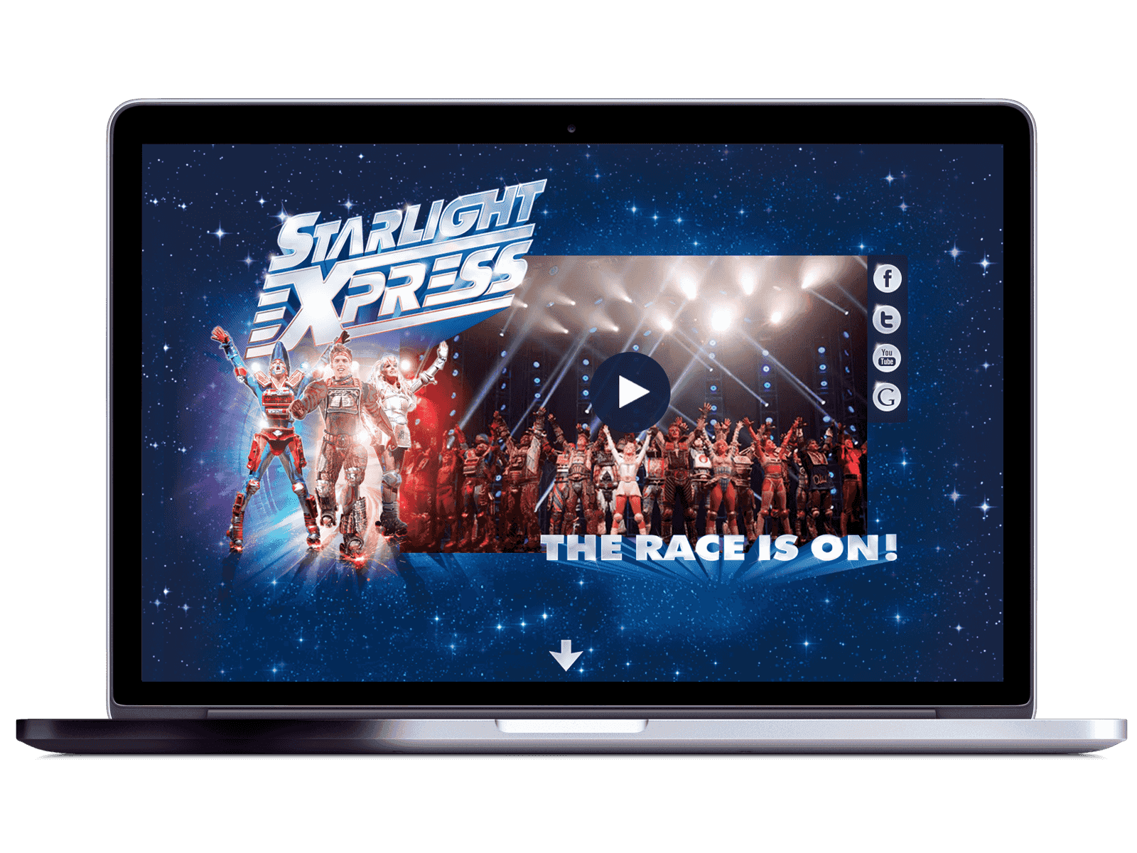Starlight Express header in Mac
