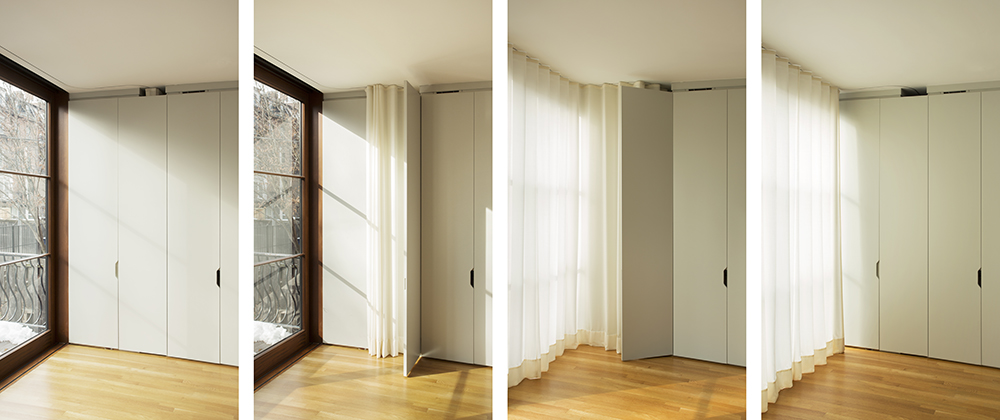 Boston Architects BUTZ + KLUG architecture, South End renovation Interior curtains
