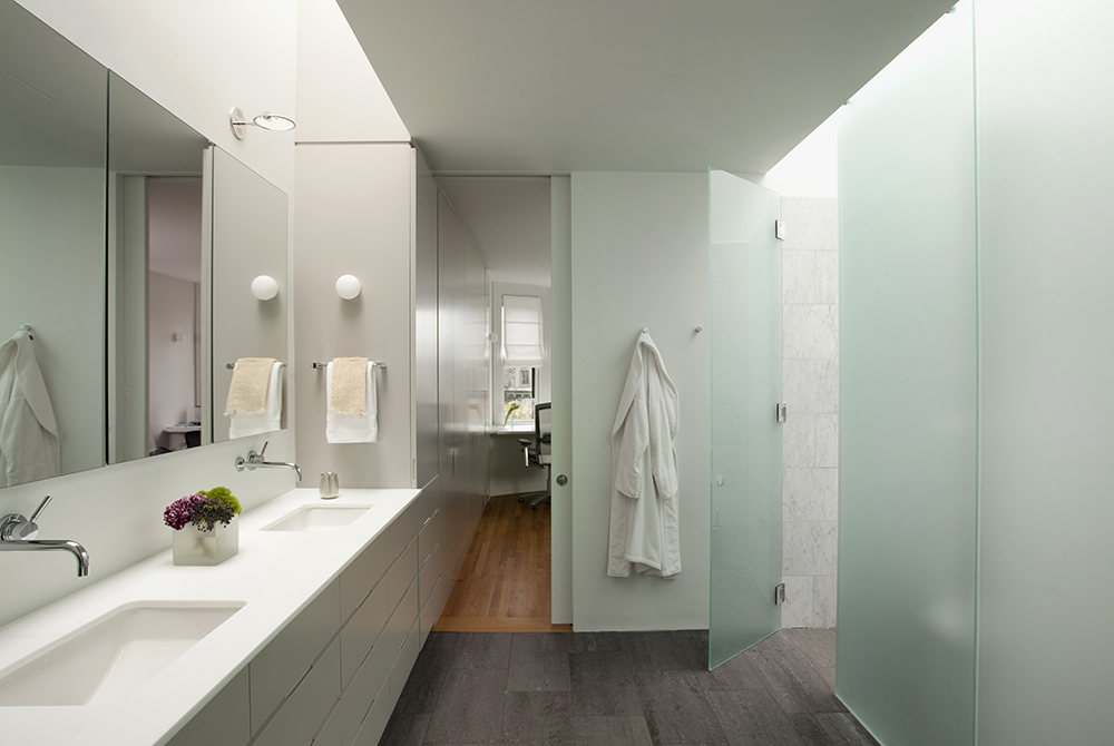 Boston Architects BUTZ + KLUG architecture, South End renovation Interior Bathroom