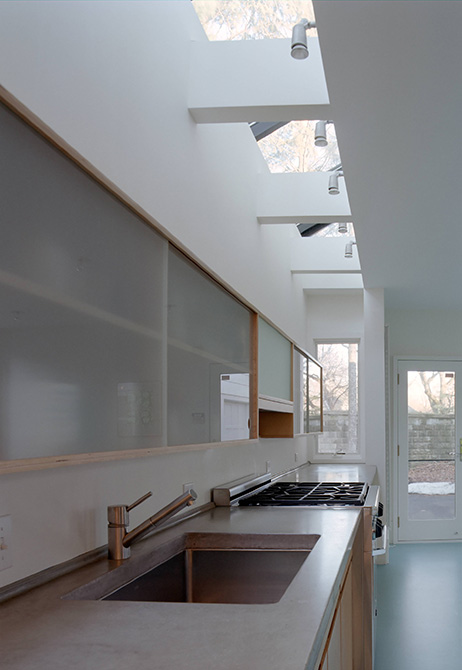 Boston Architects BUTZ + KLUG architecture Contemporary renovation addition Waban MA