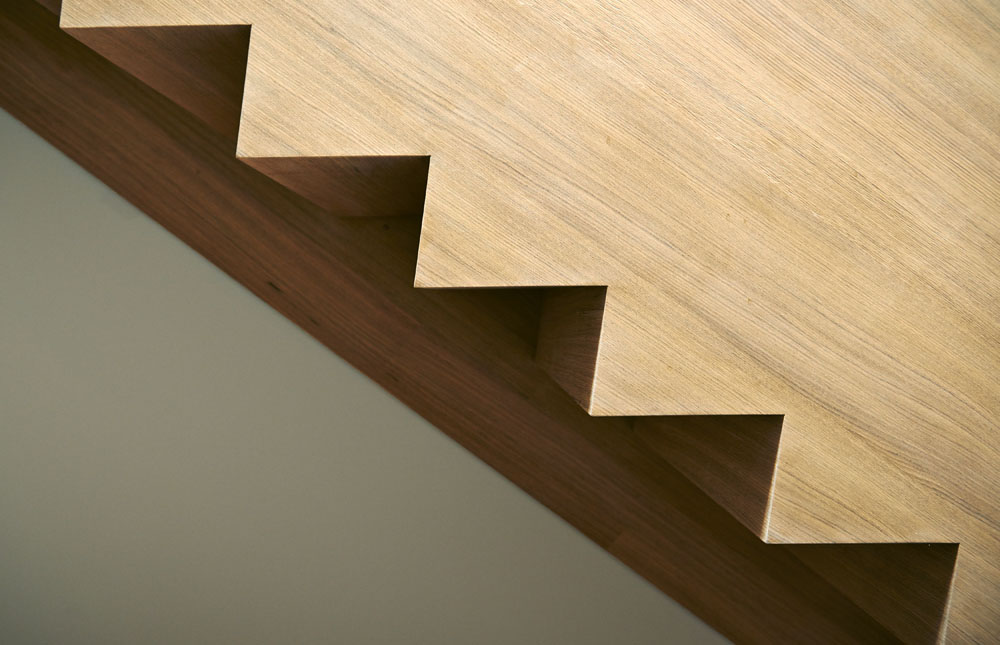 Modern wood stair, detail