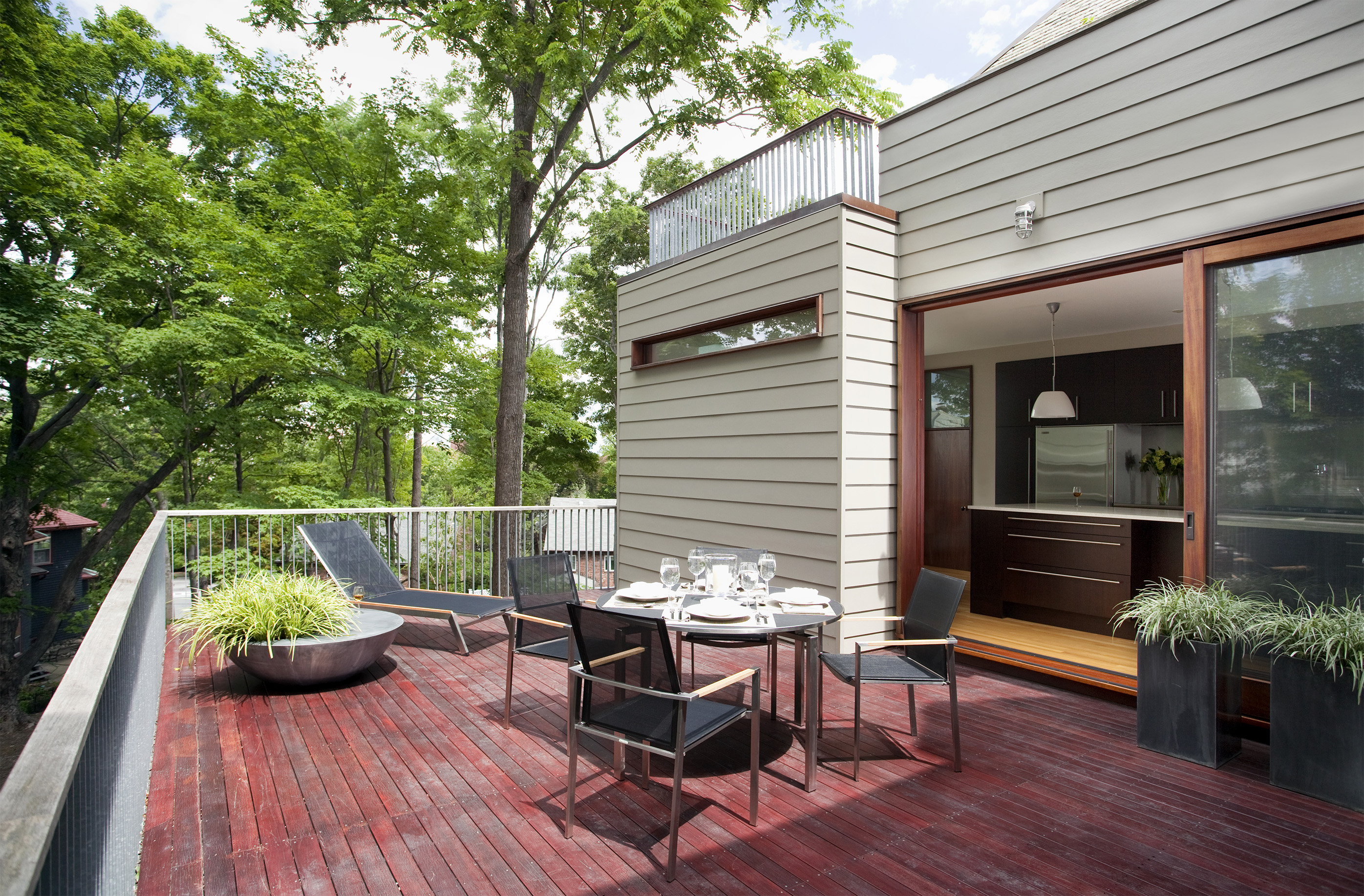 Boston Architects BUTZ + KLUG architecture Contemporary renovation Brookline MA Deck