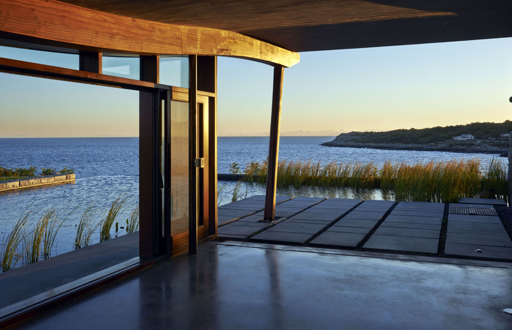 Boston Architects BUTZ + KLUG architecture, Pool House infinity edge pool, North Shore Gloucester MA