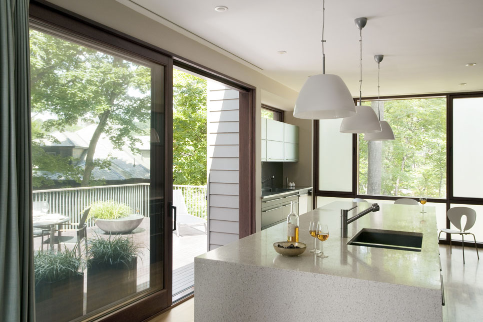 Boston Architects BUTZ + KLUG architecture Contemporary renovation Brookline MA Kitchen