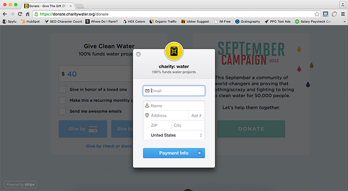 clean and simple donation form