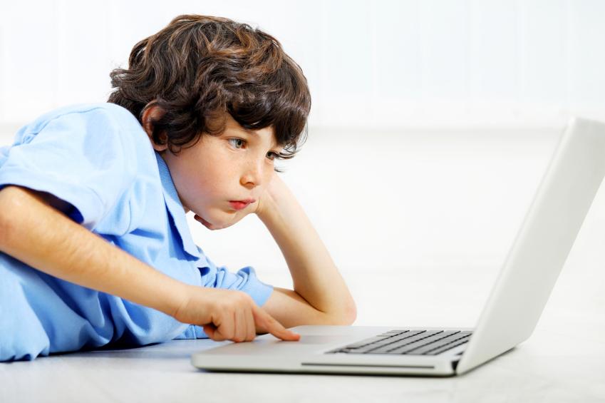 Boy on laptop
