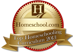 Homeschool.com Top Homeschooling Curriculum 2013 Award