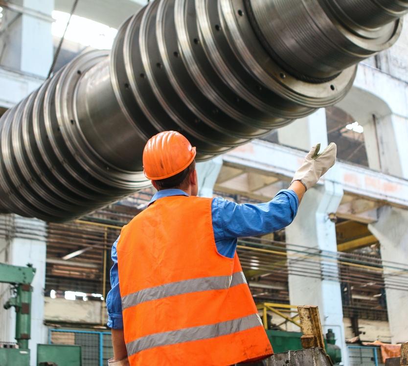 Worker operating equipment
