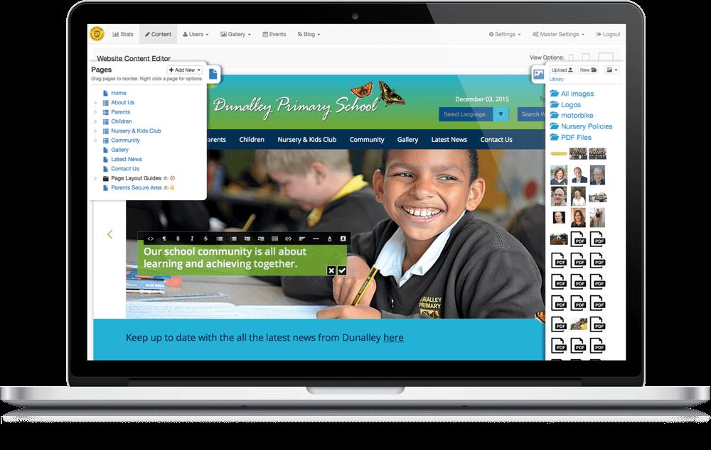 Dunalley - Website Dashboard