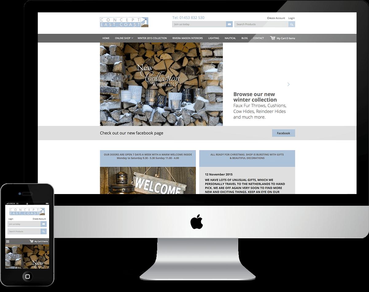 Concept East Coast - Desktop & Mobile