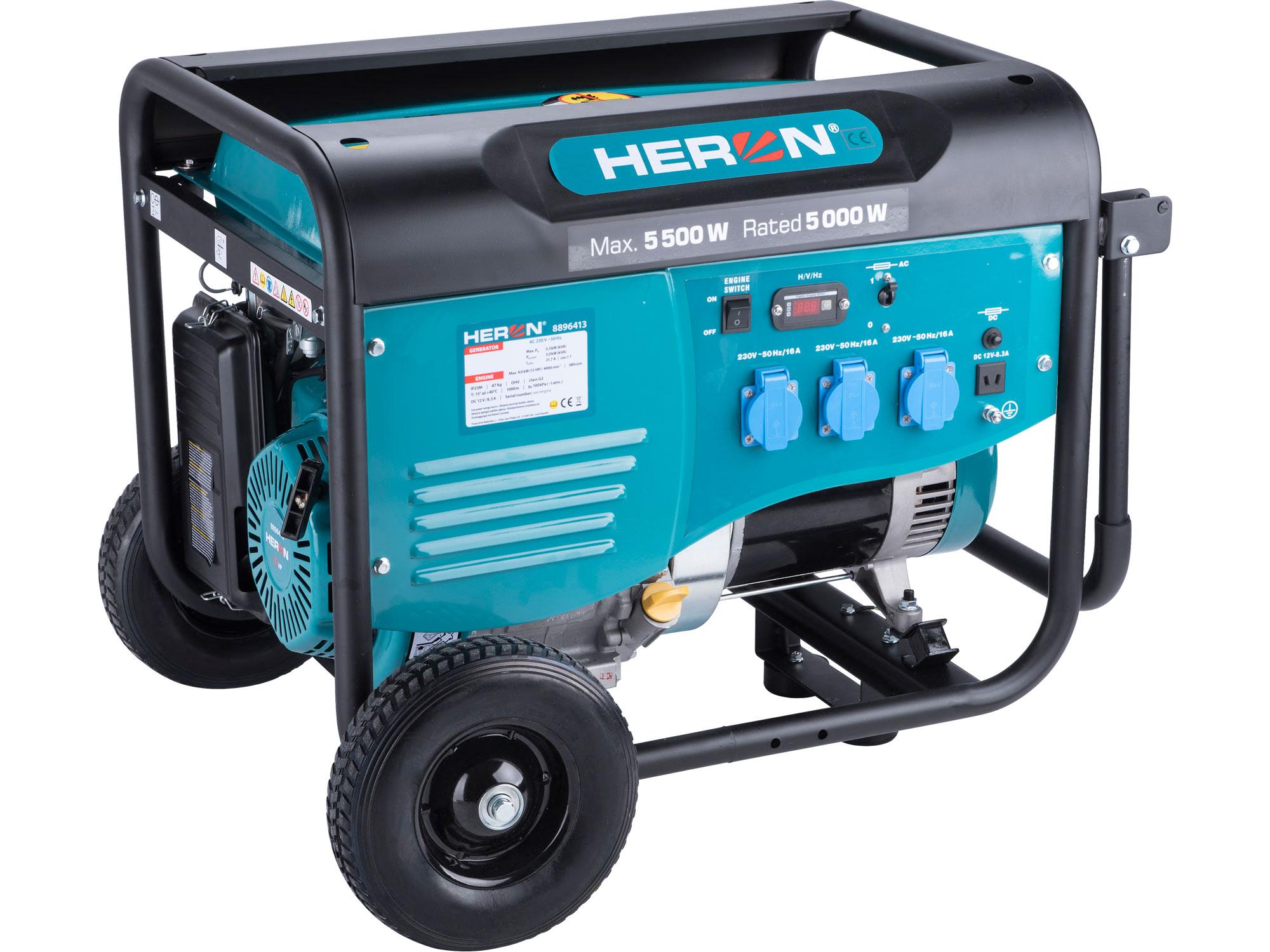 elektrocentrála benzínová 13HP/5,5kW, pro svařování, podvozek