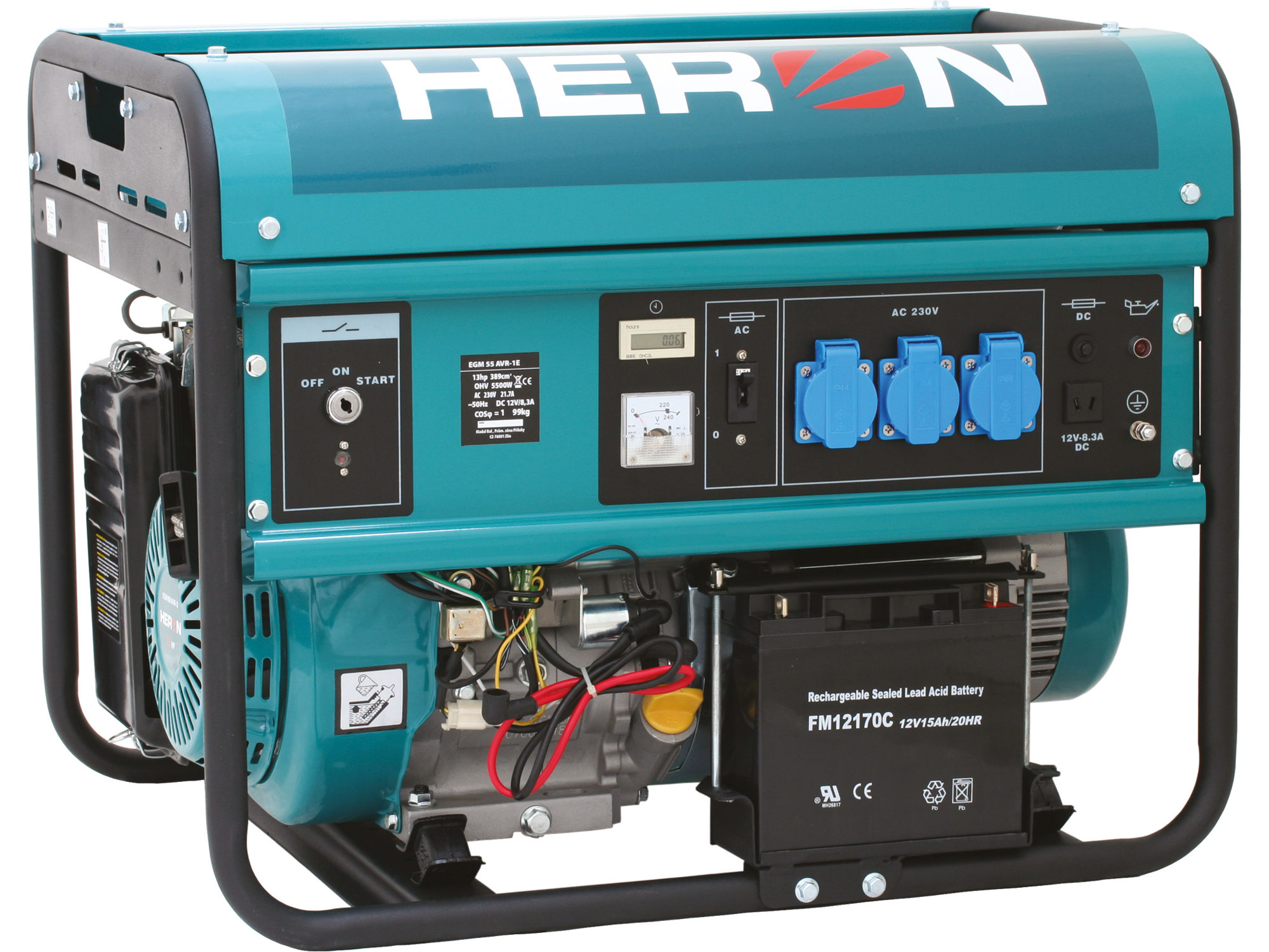 ZRUŠENO! Nahrazeno výrobkem 8896415, elektrocentrála benzínová 13HP/5,5kW, pro svařování, elektrický start