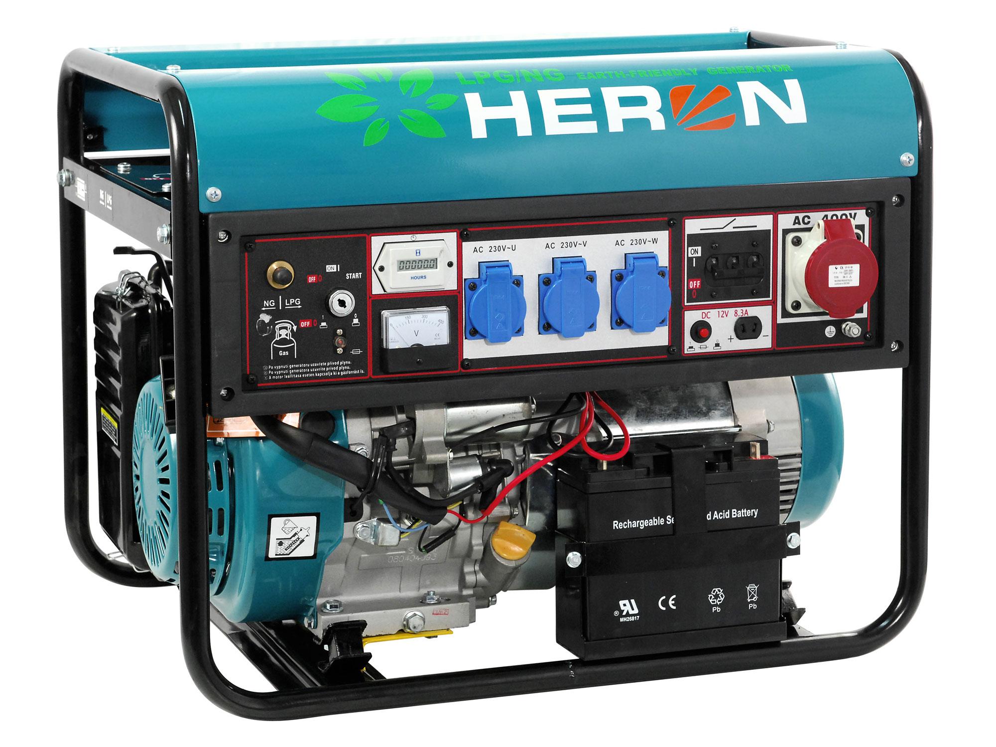 elektrocentrála plynová 11HP (LPG/NG) s elektrickým startem